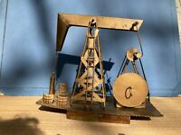 "COPPER Art OIL RIG Music Mechanical PUMP Derrick ""ImpossibleDream"""