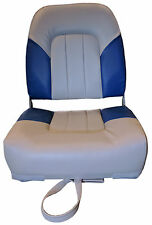 MARINE DELUXE FOLDING BOAT SEATS BLUE/GREY (75155GB) yacht speed fishing chair