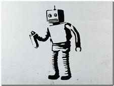 "BANKSY STREET ART CANVAS PRINT Bad Robot 8""X 10"" stencil poster"