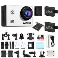 WIMIUS 4K 16MP Sports Action Camera WiFi FHD 1080P Helmet Camera Camcorder Q1