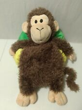 JAY AT PLAY PLUSH HAPPY NAPPERS PILLOW MONKEY IN BANANA HOUSE SNORING NOISES