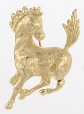 14K Yellow Gold Horse Pin Brooch Pendant