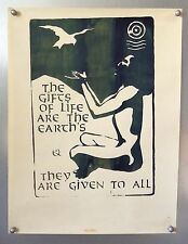 Vintage The Gifts of Life are the Earth's & They are Given to us All Poster