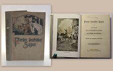 Wirth Perlen deutscher Sagen Auswahl Klassiker um 1920 Märchen Deutschland xz