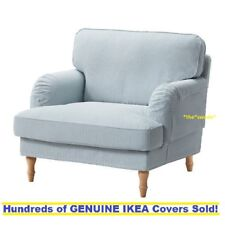 Ikea STOCKSUND Armchair (Chair) Cover Slipcover REMVALLEN BLUE/WHITE New SEALED