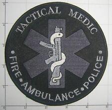 TACTICAL MEDIC Patch Fire Ambulance Police EMT SWAT