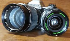 Olympus Om10 * 35mm Slr Film Camera W /2 Lenses.
