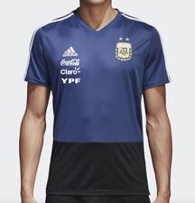 Adidas AFA 2018 Argentina LARGE Training Shirt Blue with YPF Sponsors