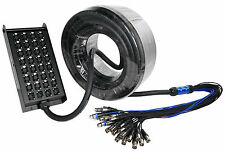 Rockville SX32100 32 Channel (4 returns) 100 Foot XLR Snake Cable, 100% OFC