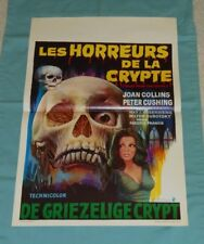 original TALES FROM THE CRYPT Belgian movie poster Joan Collins Peter Cushing