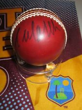 Courtney Walsh (West Indies legend) signed Red Leather Cricket Ball + COA /proof