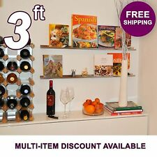 3ft ultraLEDGE Stainless Steel Floating Shelf, Picture Ledge, Photo Art Display
