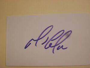 Mario Lemieux - Authentic Hand Signed Autograph Card - Index Card