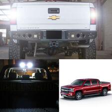 White LED Reverse, License, Cargo Light Kit For  2014-2018 Chevrolet Silverado