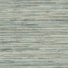 Blue Grey Faux Grasscloth Wallpaper NT33703 DOUBLE roll  FREE SHIPPING