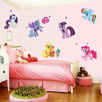 6PCS 3D My Little Pony Decal WALL STICKER Vinyl Mural Kids Room Nursery Decor
