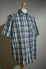Guinness Branded Short Sleeve Seersucker Check Shirt Mens Size XXL Black/White
