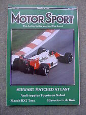 Motor Sport (June 1987) Mazda RX7, Alfa Spider, 33, Belgian & San Marino GPs
