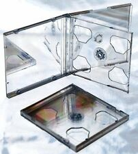 3 CD Jewel Cases Clear Tray 3 Capacity - Triple 10mm CD Jewel Case (10 cases)