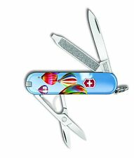 Victorinox Swiss Army Key Chain Knife Classic Ltd Ed -  Hot Air Balloons