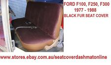 BLACK FUR (ARTIFICIAL SHEEPSKIN ) SEAT COVER  FIT  FORD F100,F250,F350 1977-1988