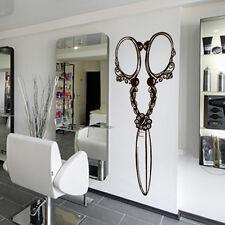 Wall Decal Hair Salon Scissors Retro Curls Beauty Hair Stylist  Barber M1436