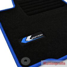 Mattenprofis Velours Fußmatten Logo blau für VW Scirocco III ab Bj.05/2008 -