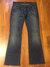 Seven 7 For All Man Kind Jeans Size 27 Boot Cut Denim  Made in USA F