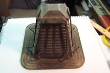 vintage 4 slice stove top open  flame pyramid tin toaster