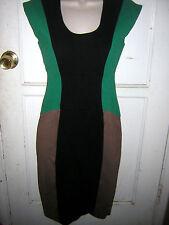 Womens RachelRoy Dress ColorBlockEmerBlkNude  Sz0 FormFit BackZip Orig$368  NWT