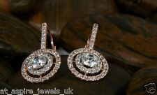 2.00ct Hanging Drop Diamond Earrings Round Solid 14ct Rose Gold