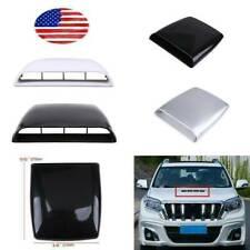 4-Color Car Decorative White Air Flow Intake Hood Scoop Bonnet Vent Cover Trim