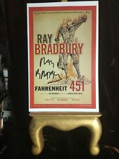 Ray Bradbury Fahrenheit 451 Theatre Card & booklet signed w/ Letter of Auth.