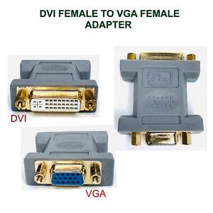 DVI to VGA Adapter DVI-I Dual Link 24+5 SVGA D-Sub 15 DVI Female to VGA Female