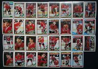 1991-92 O-Pee-Chee OPC Chicago Blackhawks Team Set of 31 Hockey Cards
