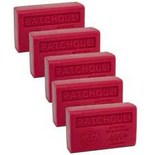 5 x 125g Bars - Patchouli Scented French Soap with Organic Shea Butter