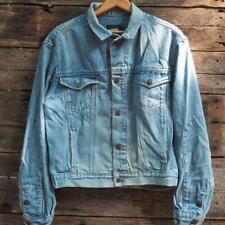 Vintage Men's Large Calvin Klein Denim Jacket Trucker Distressed 1990's
