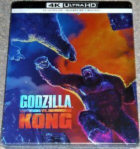 GODZILLA  Vs. KONG 4K UHD & 3D & 2D BLU RAY STEELBOOK / IMPORT / WORLDWIDE P+P