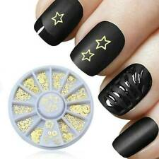 3D Gold Christmas Nail Art Decoration Slice Stickers Manicure Accessories Wheel