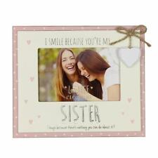 Vintage Wooden Sisters Sentiment Photo Frame Gift FW555S