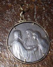 Médaille de mariage Frédéric Charles de Vernon argent et or Daté 1899