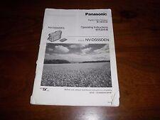 Panasonic nv-ds55den rare original uk manuel d'instructions Livre instructions ds55