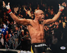 Anderson Silva Signed 11 x 14 UFC Photo Autographed Victory - PSA DNA COA ITP