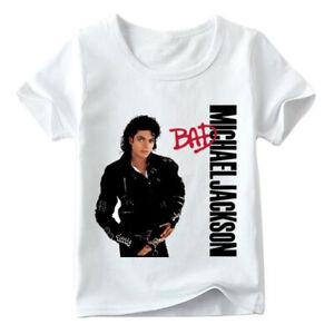 Michael Jackson Children T Shirt Baby Rock N Roll Star Summer Tops Kids Casual