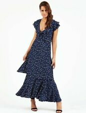 aba65409b0435 NWT Cleobella Sydney Dress in midnight blue maxi ruffle $238