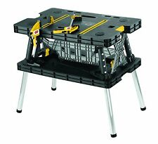 Keter Folding Work Table Portable Working Bench Saw Sand Brace Repair Woodwork
