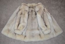 Blue Fox Fur Jacket - Medium, Full Pelts, Coat, Softest, not mink, lynx, sable