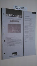 Sansui av-99 service manual original repair book stereo av processor