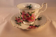 RETRO VINTAGE ROYAL ALBERT TEA CUP COFFEE CUP & SAUCER PRAIRIE ROSE PATTERN 70c