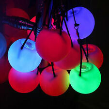 LED Multi-Coloured Glow POI  Thrown Balls Light up For Belly Dance Hand Props WR
